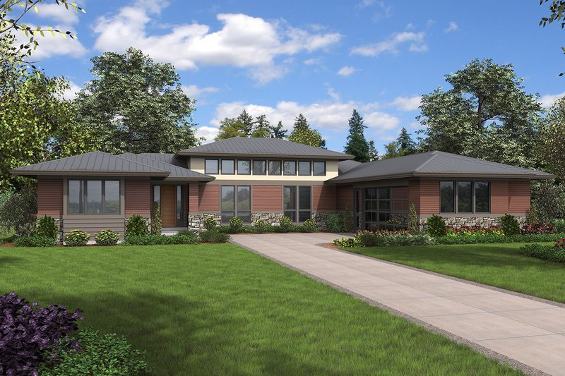 Home Plan - Contemporary Exterior - Front Elevation Plan #48-958