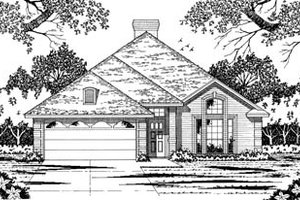 Traditional Exterior - Front Elevation Plan #42-121