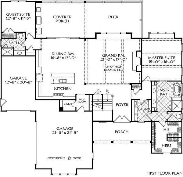Home Plan - Farmhouse Floor Plan - Main Floor Plan #927-1009