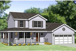 Country Exterior - Front Elevation Plan #116-247