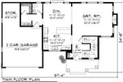 Craftsman Style House Plan - 3 Beds 2.5 Baths 2046 Sq/Ft Plan #70-1132 Floor Plan - Main Floor Plan