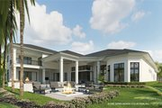 Contemporary Style House Plan - 5 Beds 5.5 Baths 6136 Sq/Ft Plan #930-475 Exterior - Rear Elevation