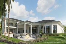 House Plan Design - Contemporary Exterior - Rear Elevation Plan #930-475