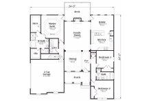 Craftsman Floor Plan - Main Floor Plan Plan #419-114