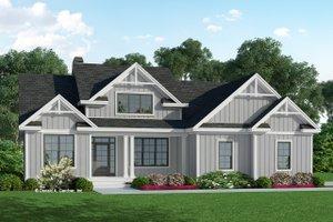 House Blueprint - Farmhouse Exterior - Front Elevation Plan #929-1131