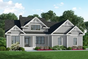 Farmhouse Exterior - Front Elevation Plan #929-1131