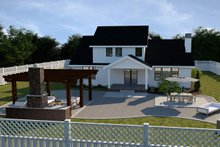 Dream House Plan - Farmhouse Exterior - Rear Elevation Plan #1070-16