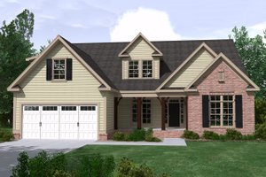 Ranch Exterior - Front Elevation Plan #1071-21
