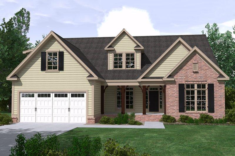 House Plan Design - Ranch Exterior - Front Elevation Plan #1071-21