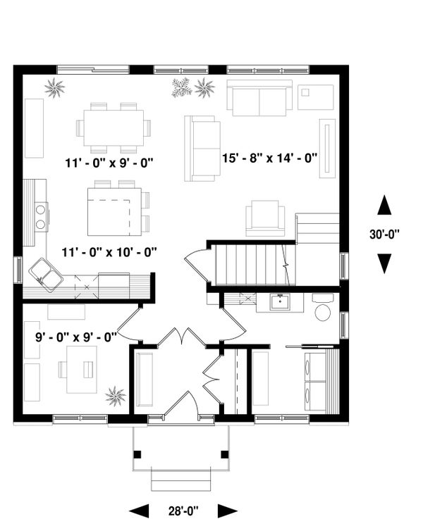 Traditional Floor Plan - Main Floor Plan Plan #23-2306