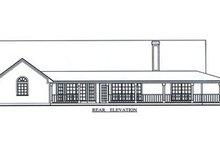 Home Plan - Country Exterior - Rear Elevation Plan #42-373