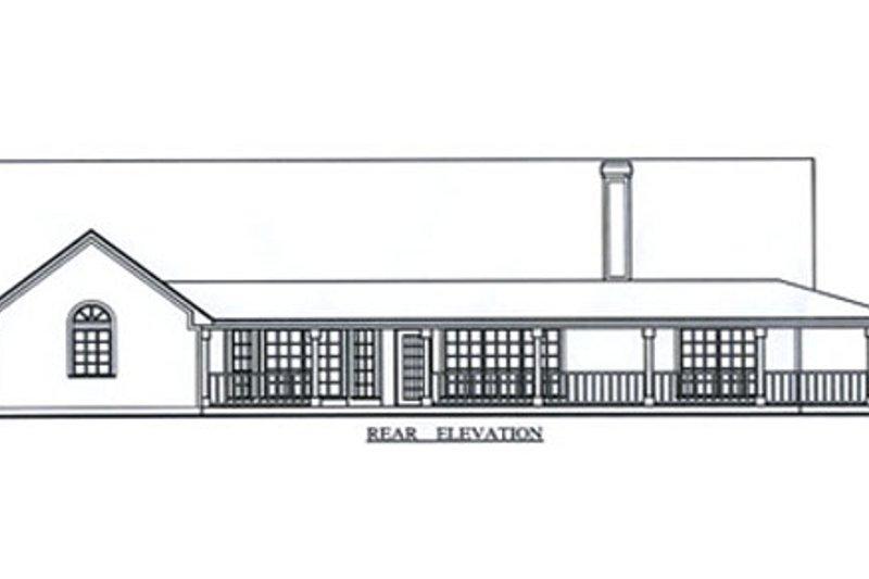 Country Exterior - Rear Elevation Plan #42-373 - Houseplans.com