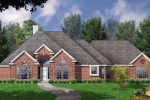 House Plan Design - European Exterior - Front Elevation Plan #40-410