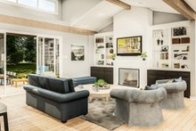 Architectural House Design - Country Interior - Family Room Plan #406-9659