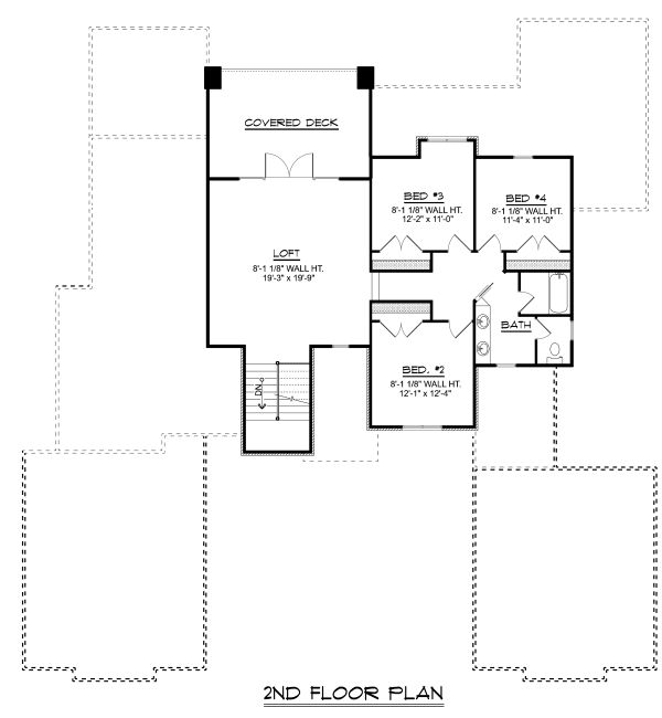 Modern Floor Plan - Upper Floor Plan Plan #1064-19