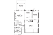 Contemporary Style House Plan - 4 Beds 3 Baths 2873 Sq/Ft Plan #48-706 Floor Plan - Main Floor Plan