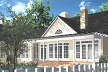 Architectural House Design - Southern Exterior - Rear Elevation Plan #406-280