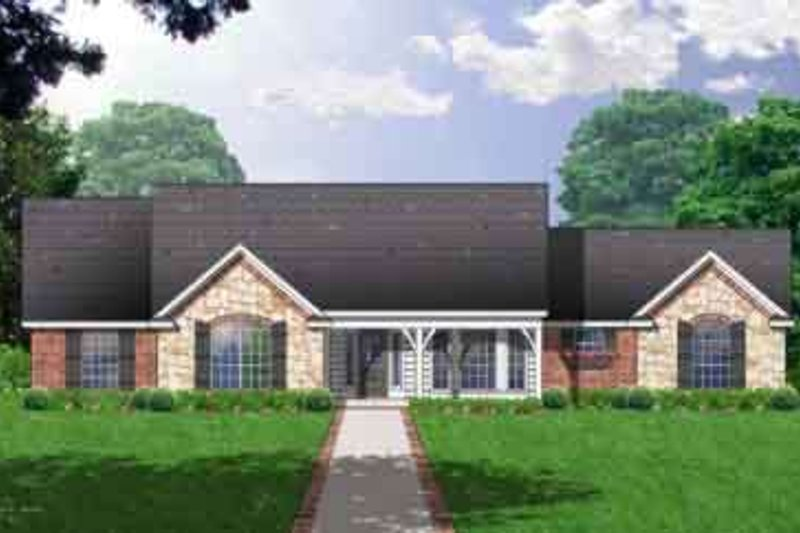 Traditional Exterior - Front Elevation Plan #40-334 - Houseplans.com
