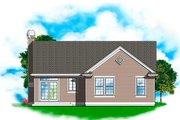 Cottage Style House Plan - 3 Beds 2 Baths 1292 Sq/Ft Plan #48-587 Exterior - Rear Elevation