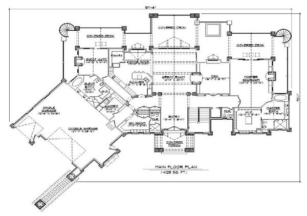 Traditional Floor Plan - Main Floor Plan #5-349