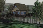 Cabin Style House Plan - 1 Beds 1 Baths 651 Sq/Ft Plan #123-115 Exterior - Other Elevation