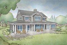Cottage Exterior - Rear Elevation Plan #928-302