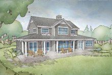 Home Plan - Cottage Exterior - Rear Elevation Plan #928-302