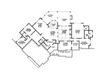 Craftsman Floor Plan - Lower Floor Plan Plan #54-385
