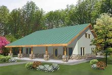 Country Exterior - Front Elevation Plan #117-275