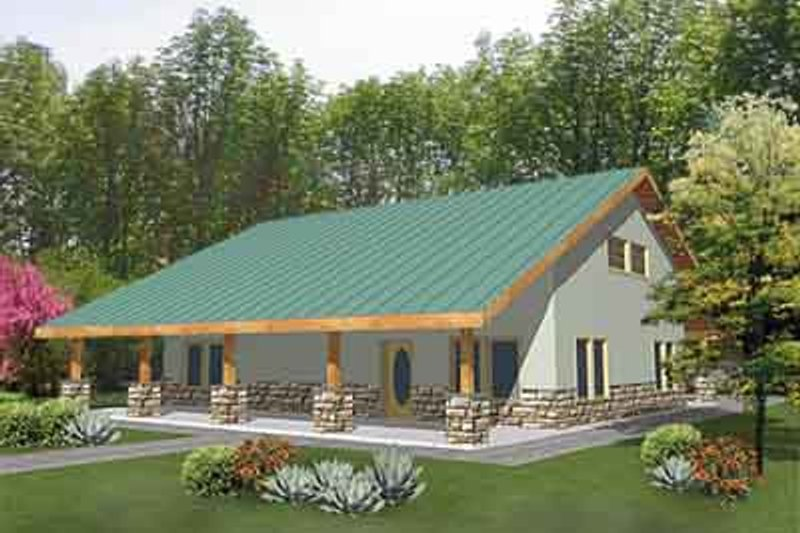 Country Exterior - Front Elevation Plan #117-275 - Houseplans.com