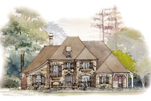 Home Plan - European Exterior - Front Elevation Plan #429-39