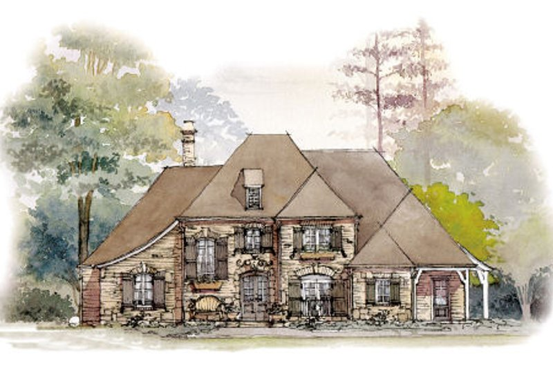 Dream House Plan - European Exterior - Front Elevation Plan #429-39