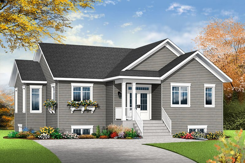 Architectural House Design - Ranch Exterior - Front Elevation Plan #23-2614