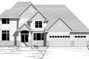 Traditional Style House Plan - 4 Beds 3.5 Baths 3500 Sq/Ft Plan #51-470 Exterior - Other Elevation