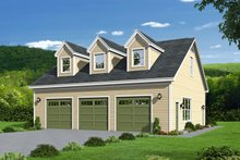 Country Exterior - Front Elevation Plan #932-183