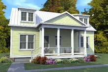 Classical Exterior - Front Elevation Plan #63-401