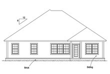 Ranch Exterior - Rear Elevation Plan #513-2173