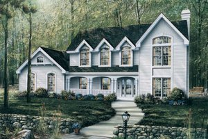 Country Exterior - Front Elevation Plan #57-183