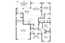 Contemporary Floor Plan - Main Floor Plan Plan #48-944