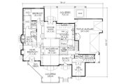 European Style House Plan - 4 Beds 3.5 Baths 3592 Sq/Ft Plan #5-398 Floor Plan - Main Floor Plan