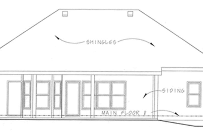 European Exterior - Rear Elevation Plan #20-1370 - Houseplans.com