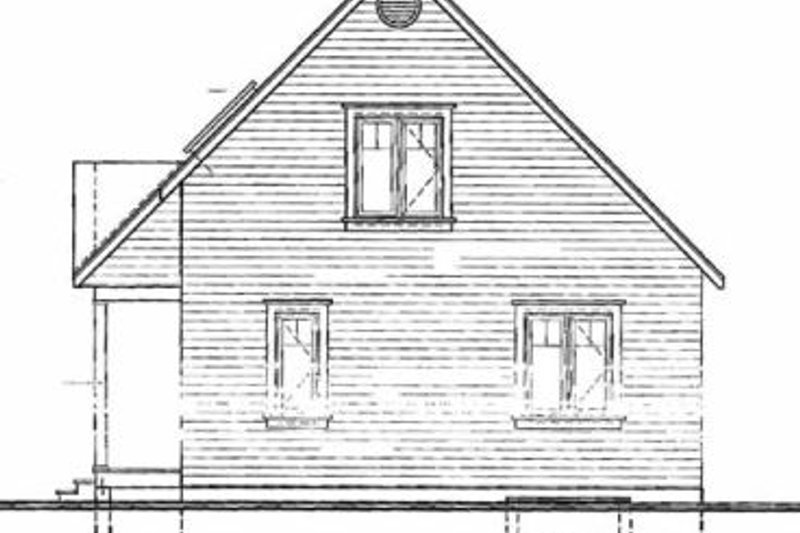 Country Exterior - Rear Elevation Plan #23-2095 - Houseplans.com