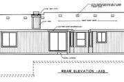 Ranch Style House Plan - 3 Beds 2 Baths 1135 Sq/Ft Plan #92-106 Exterior - Rear Elevation