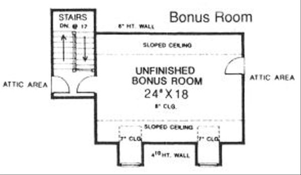 Country Floor Plan - Other Floor Plan Plan #310-608