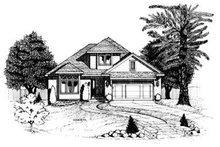 Dream House Plan - Traditional Exterior - Front Elevation Plan #20-513