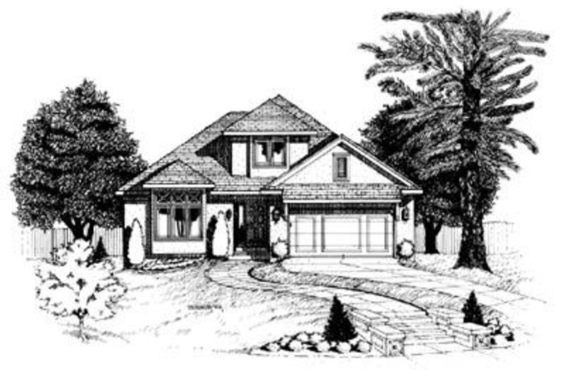 Traditional Exterior - Front Elevation Plan #20-513