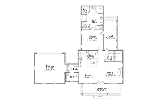 Traditional Floor Plan - Main Floor Plan #69-403