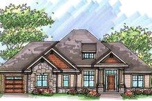 Craftsman Exterior - Front Elevation Plan #70-986