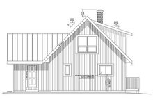 Cabin Exterior - Rear Elevation Plan #126-219