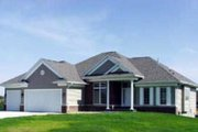 Traditional Style House Plan - 2 Beds 2 Baths 1838 Sq/Ft Plan #70-218 Exterior - Front Elevation